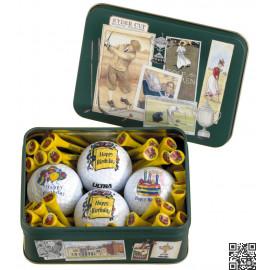 Happy Birthday - Caja combinada bolas de golf