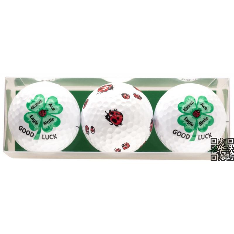 Tres bolas - motivo Good Luck