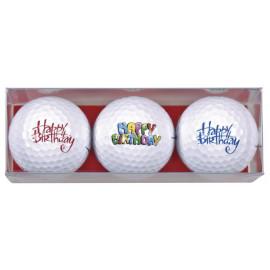 Tres bolas motivo Happy Birthday 2